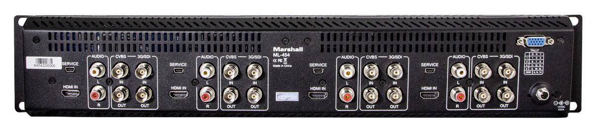 Marshall MA-454 Rückseite Anschlüsse